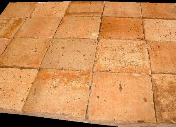 Antique french terra cotta light tones for Carrelage 45x45
