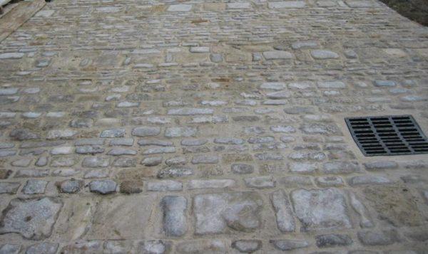 Pavage, pavés calcaire