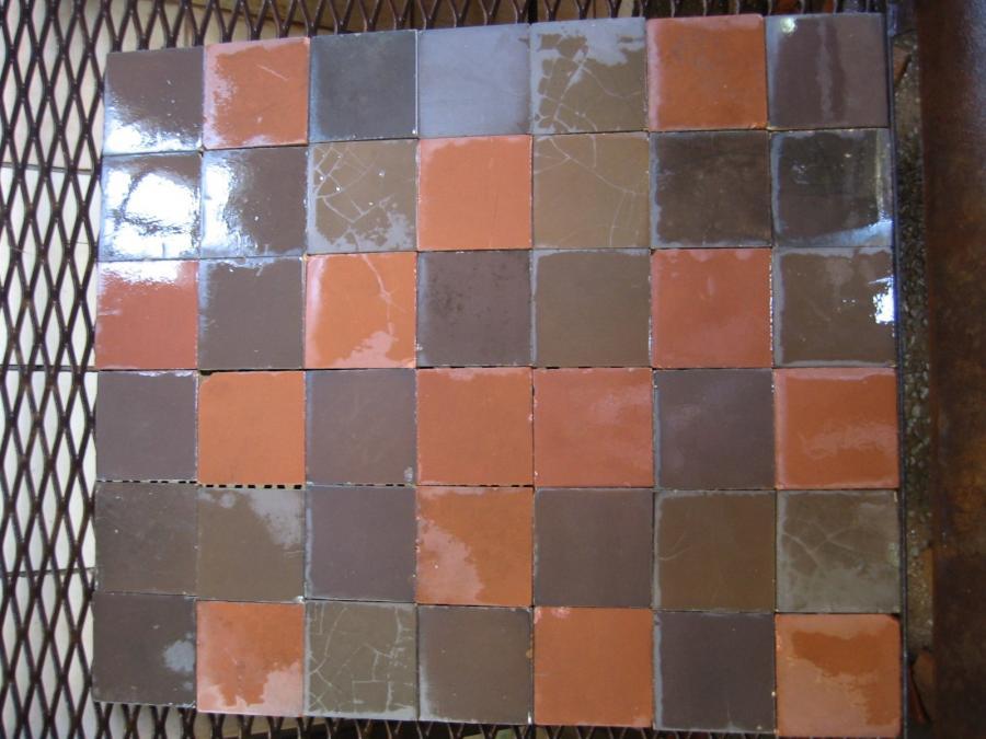 carrelage ancien en c ramique patchwork bca mat riaux anciens. Black Bedroom Furniture Sets. Home Design Ideas