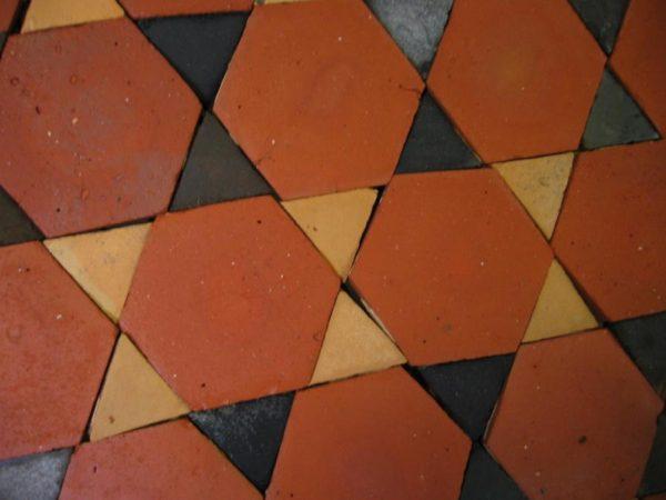 carrelage ancien hexagonal terre cuite navette