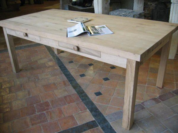 table rustique vieux chene