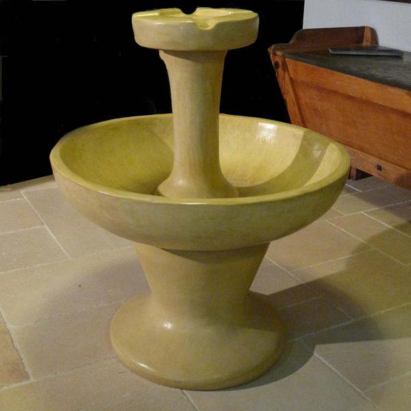 vasque fontaine ancienne pierre composite Tadelakt