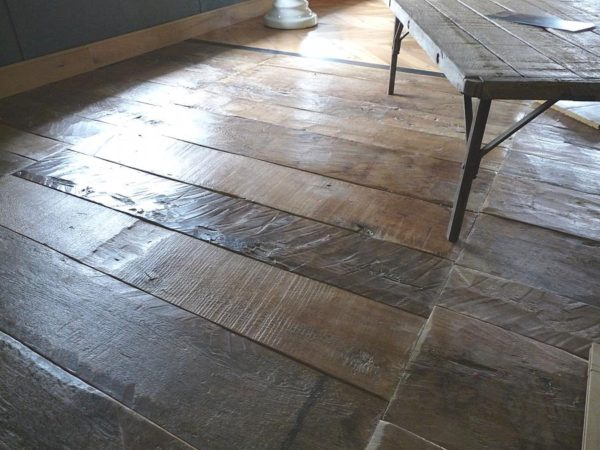 Plancher vieux bois en chêne