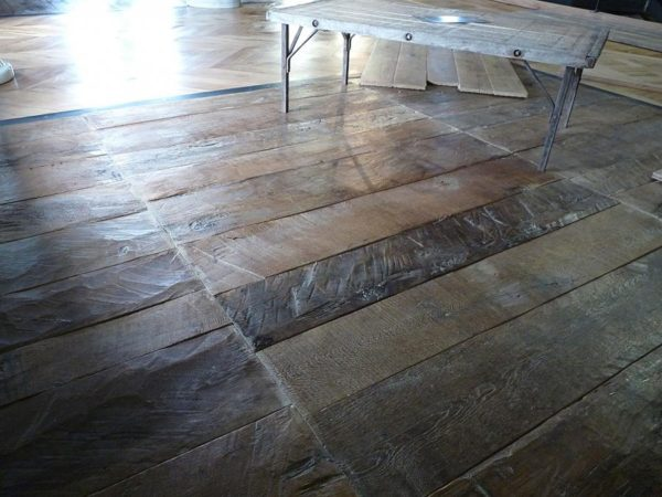plancher chene antique / antique reclaimed oak floor boards