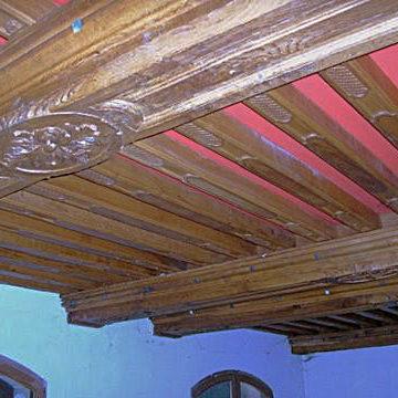 Plafond ancien bois