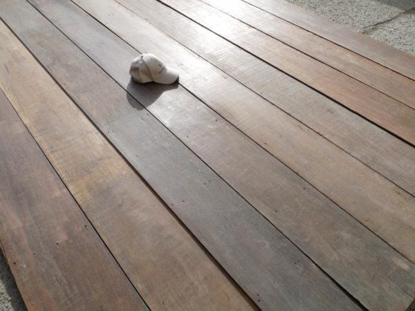 plancher ancien large / wide reclaimed Keruing floorboards