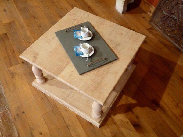 table basse chene brut
