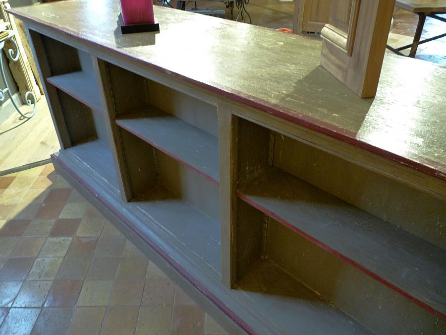 comptoir de commerce ancien finition patin bca. Black Bedroom Furniture Sets. Home Design Ideas