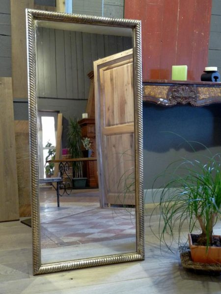 miroir ancien en bois moulure or et argent bca mat riaux anciens. Black Bedroom Furniture Sets. Home Design Ideas