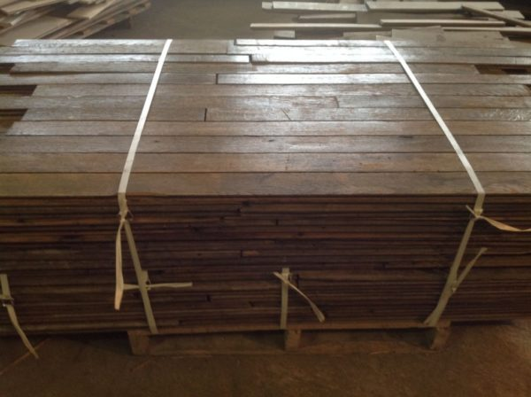 Antique reclaimed French oak parquet