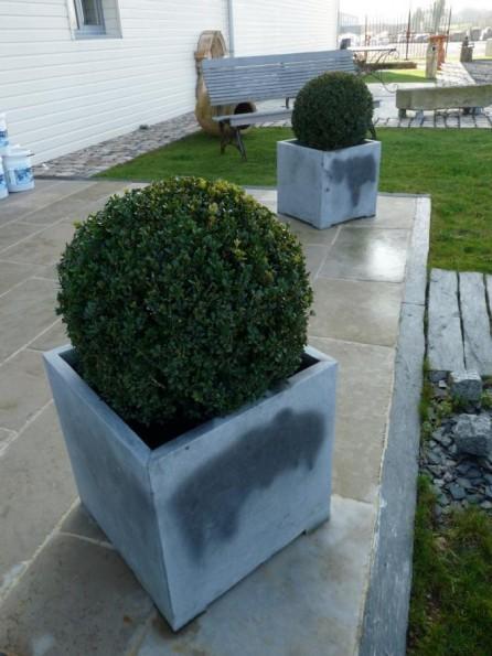 Bac fleurs en pierre bleue bca mat riaux anciens for Bac pierre jardin