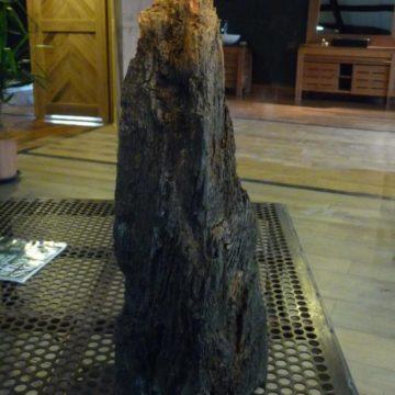 Lampe en bois de récupération