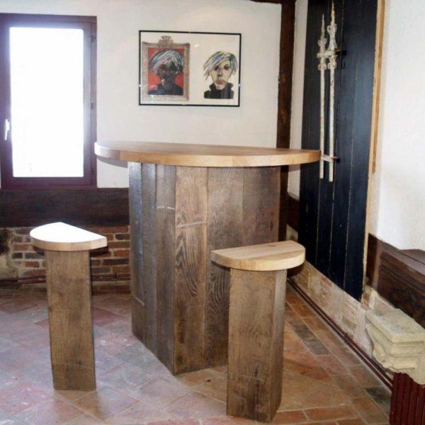Bar en vieux bois