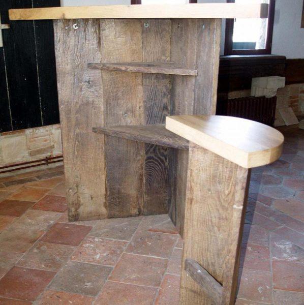 Bar en vieux bois de chêne