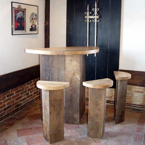 bar tabouret chene