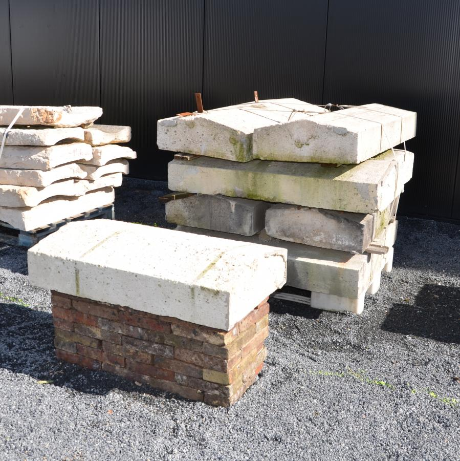 dessus de mur en pierre calcaire bca mat riaux anciens. Black Bedroom Furniture Sets. Home Design Ideas