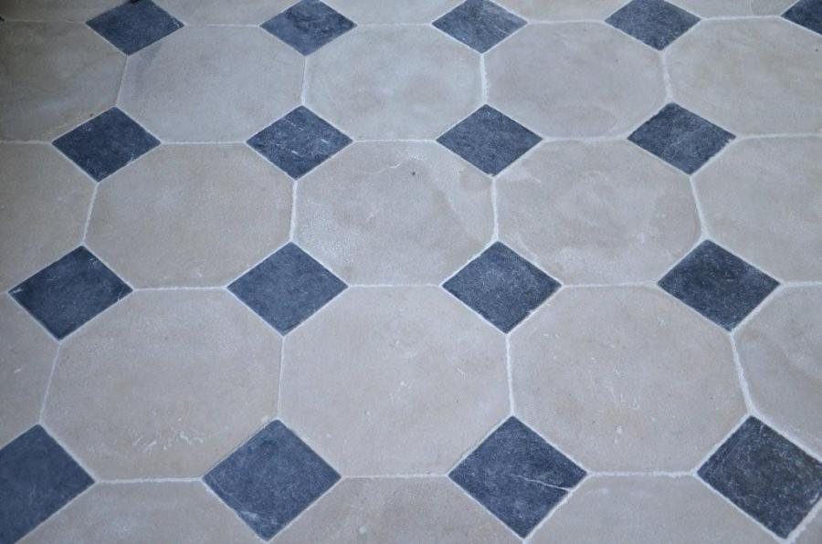 Patrimoine stone flooring octagonal cabochons for Carrelage 20 x 50