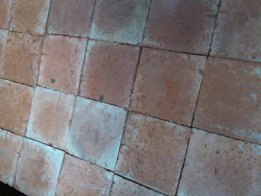 Carrelage ancien en terre cuite 28x28 cm bca mat riaux for Carrelage en terre cuite entretien