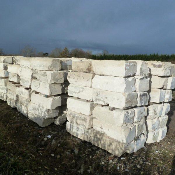 blocs de Pierre de taille calcaire