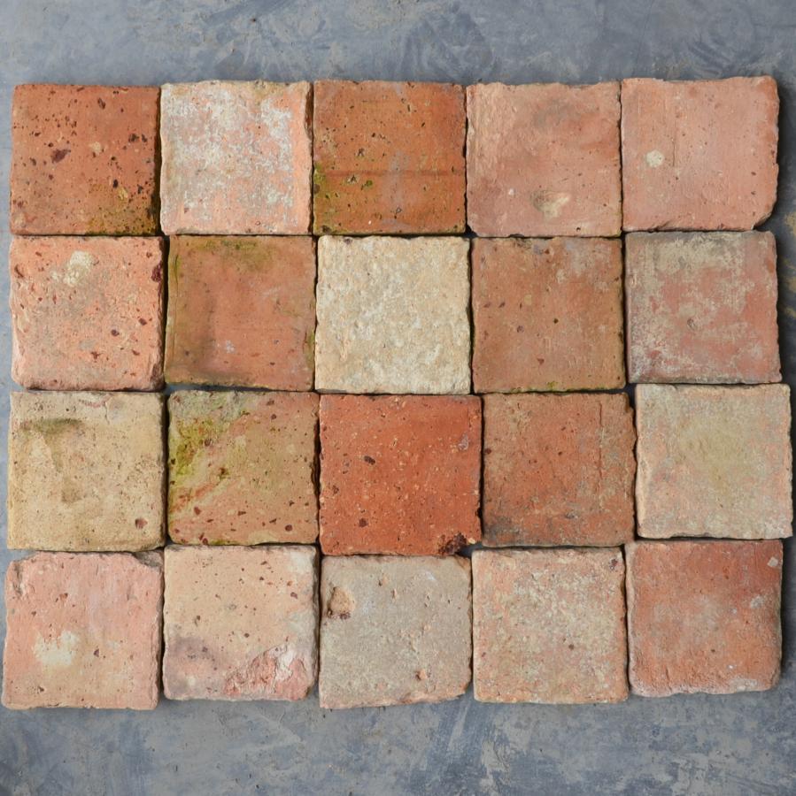 Carrelage ancien carr en terre cuite bca mat riaux anciens for Carrelage ancien terre cuite
