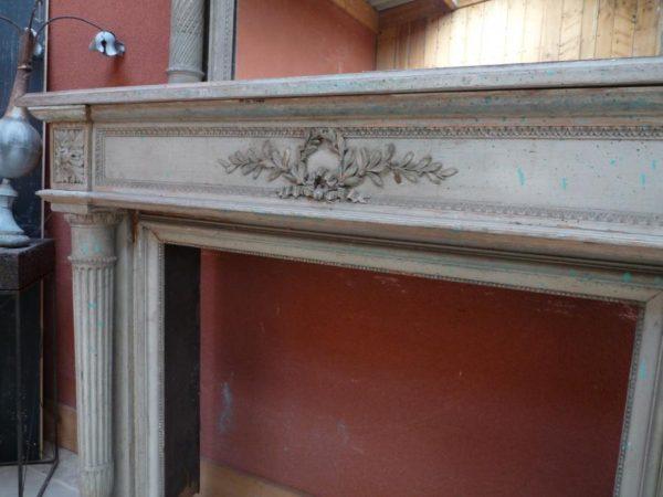 cheminée en bois louis xvi