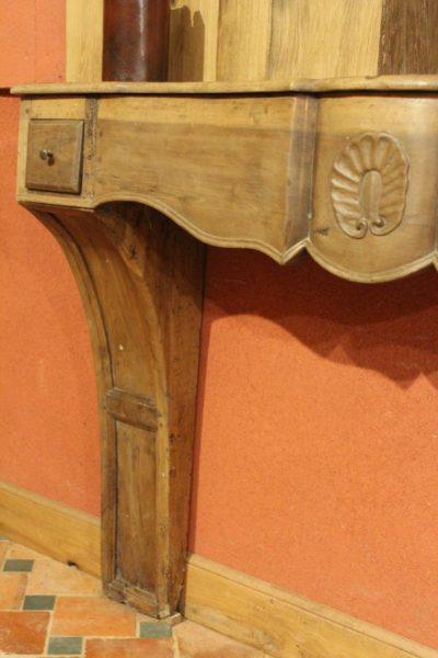 linteau de cheminée ancienne en bois