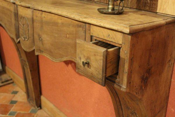 cheminée ancienne en bois d'époque