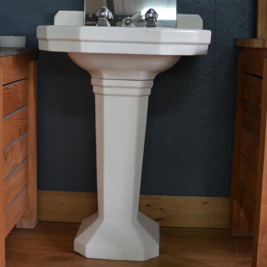 lavabo emaille sur pied. Black Bedroom Furniture Sets. Home Design Ideas