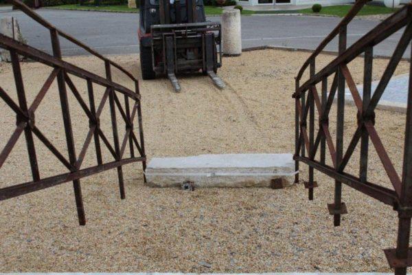 Rampes d'escalier en fer ancien