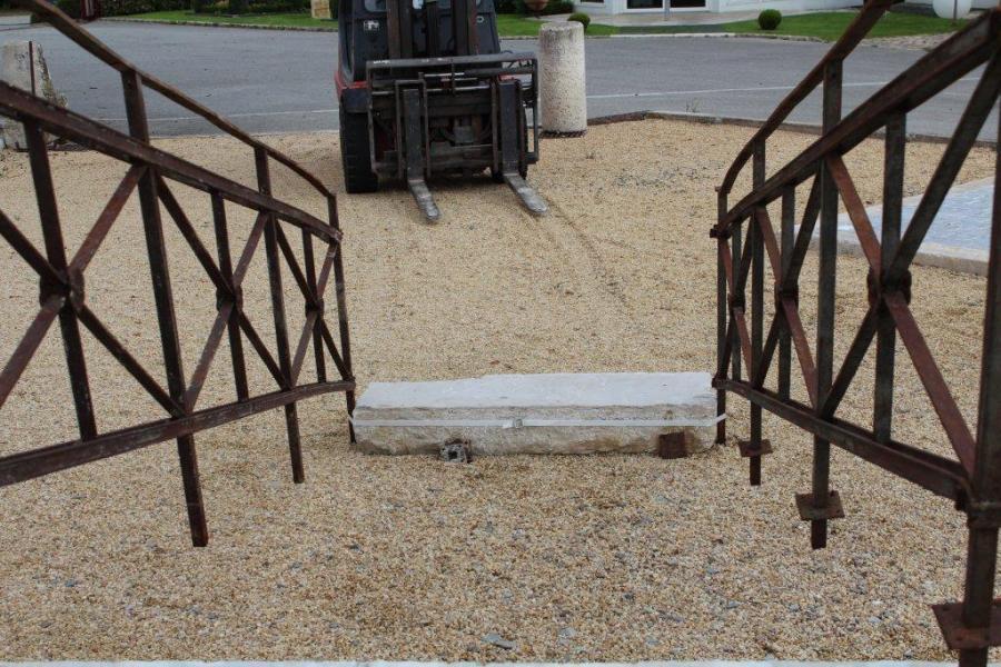 Rampes d 39 escalier en fer ancien - Hauteur rampe d escalier ...