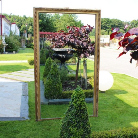 miroir ancien avec cadre moulure dor bca mat riaux anciens. Black Bedroom Furniture Sets. Home Design Ideas