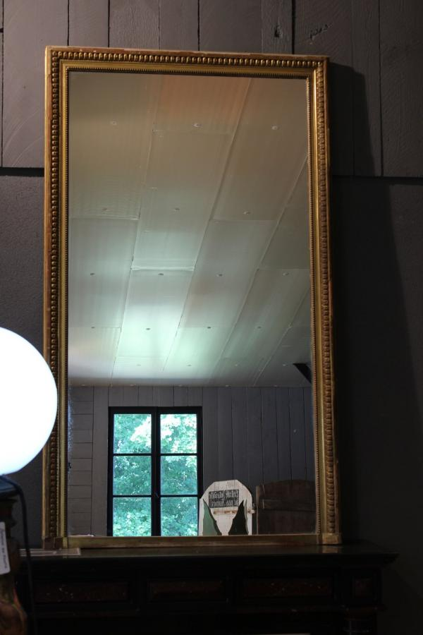 Miroir ancien avec cadre moulure dor bca mat riaux anciens for Miroir cadre dore