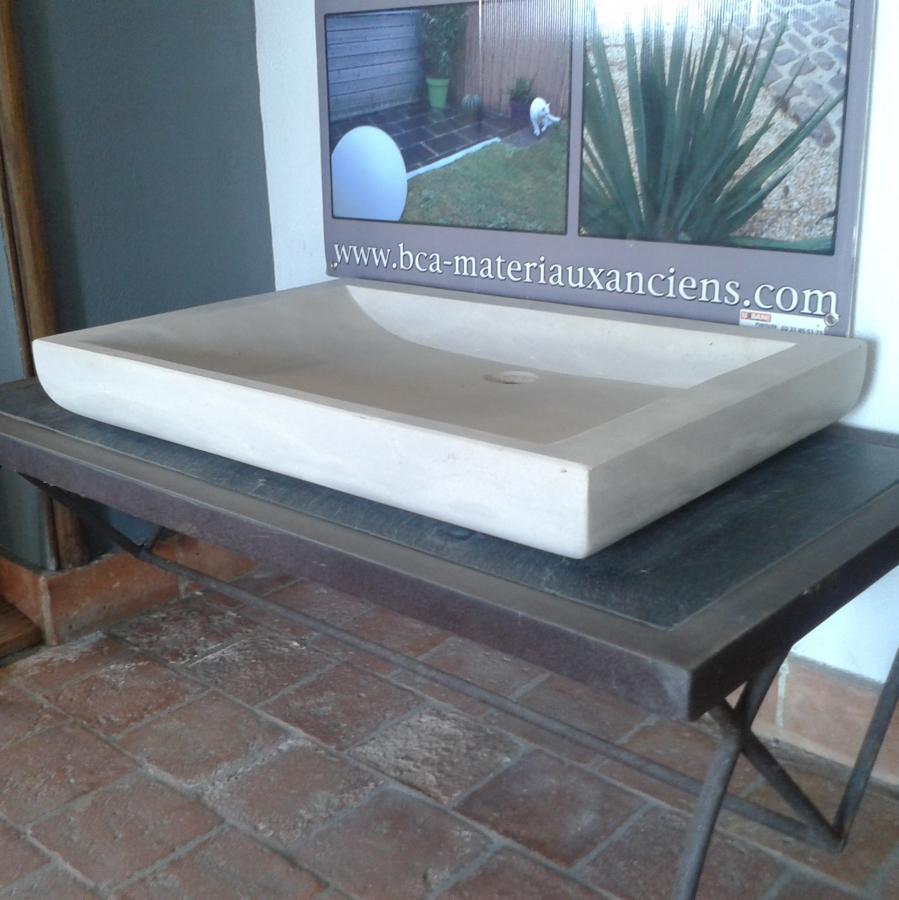 vasque rectangulaire en pierre naturelle bca mat riaux. Black Bedroom Furniture Sets. Home Design Ideas