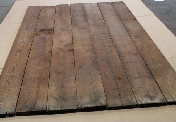 antique reclaimed pine floorboards