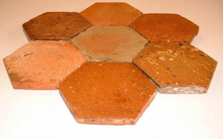 tomette ancienne hexagonale en terre cuite. Black Bedroom Furniture Sets. Home Design Ideas