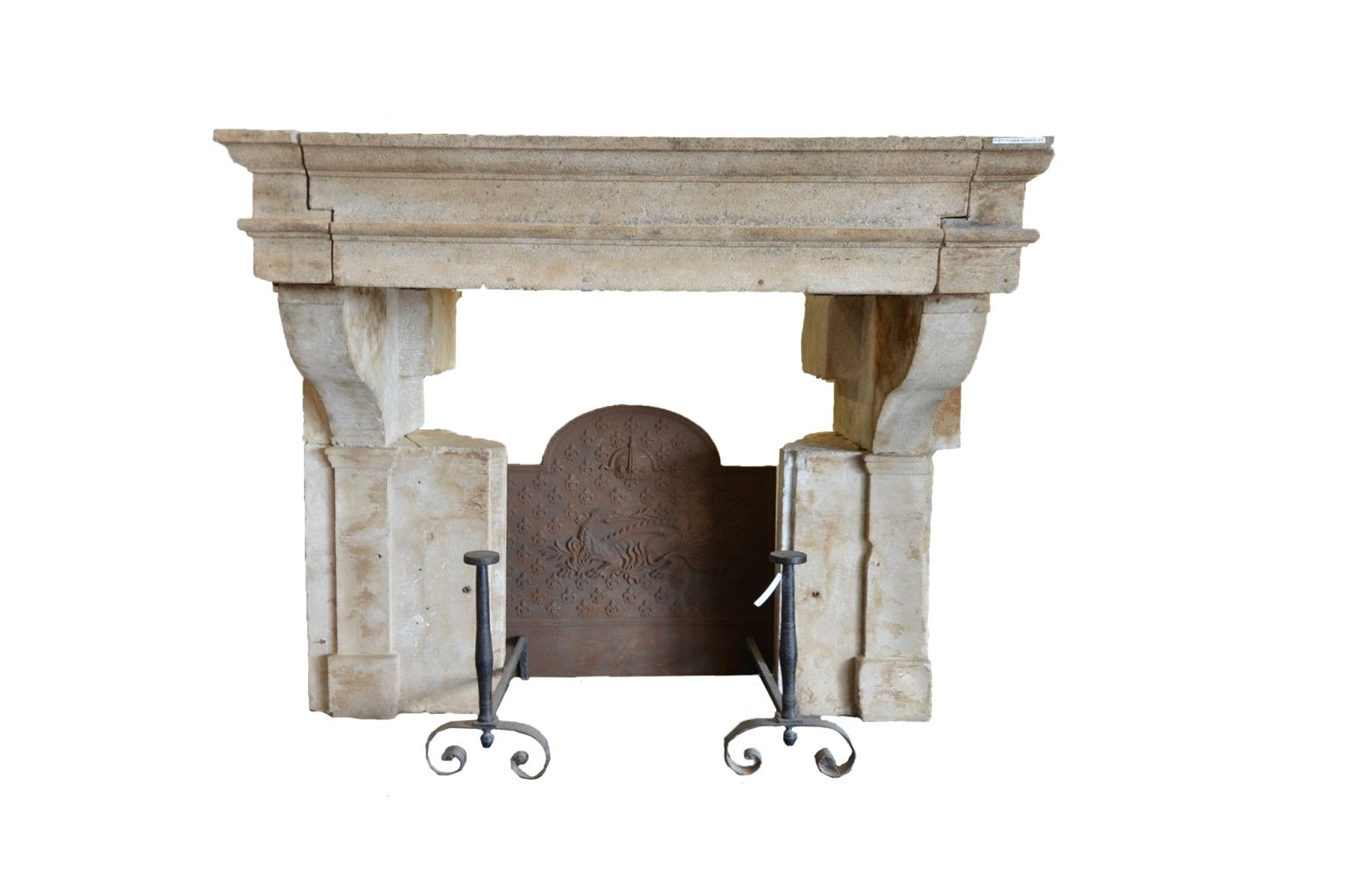 chemin e ancienne en pierre style louis xiii bca. Black Bedroom Furniture Sets. Home Design Ideas