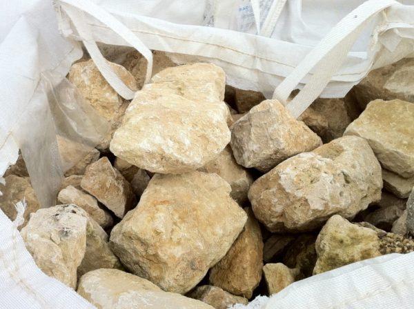 Moellons anciens en pierre calcaire