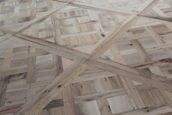 parquet versaille en vieux chêne exemple de réalisation