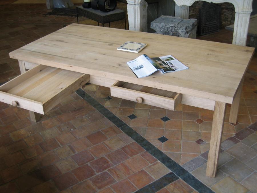 table vieux ch ne bureau vieux ch ne bca mat riaux anciens. Black Bedroom Furniture Sets. Home Design Ideas