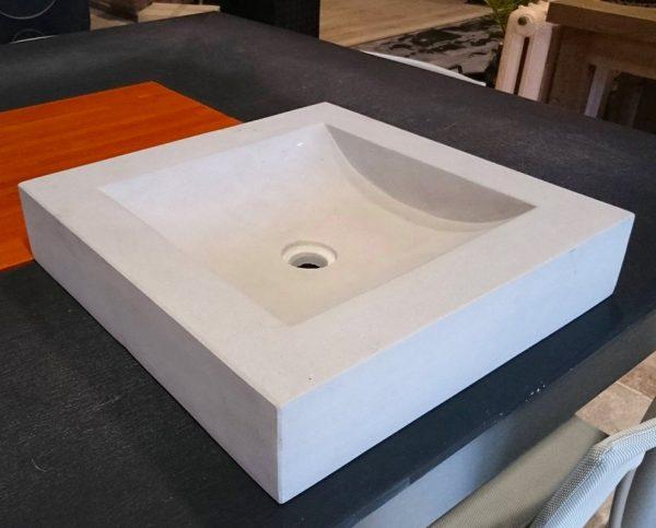 vasque carré grise