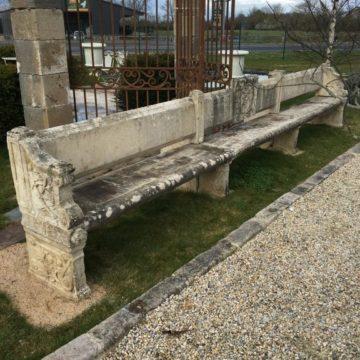 Banc pierre calcaire Cardinal Richelieu - XVIIe siècle