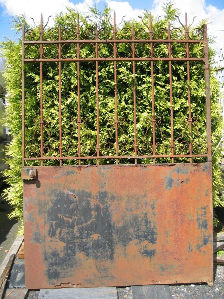 Portail de jardin en fer forgé - Largeur 150 cm | BCA Matériaux Anciens