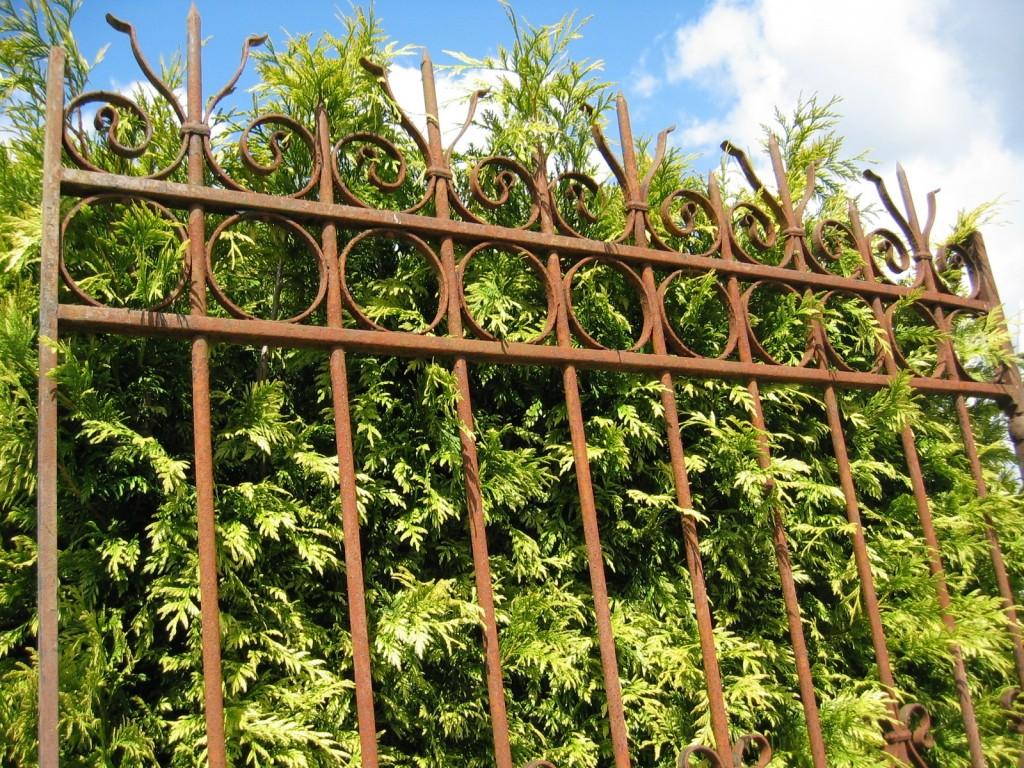 Portail de jardin en fer forg largeur 150 cm bca for Portail de jardin fer forge