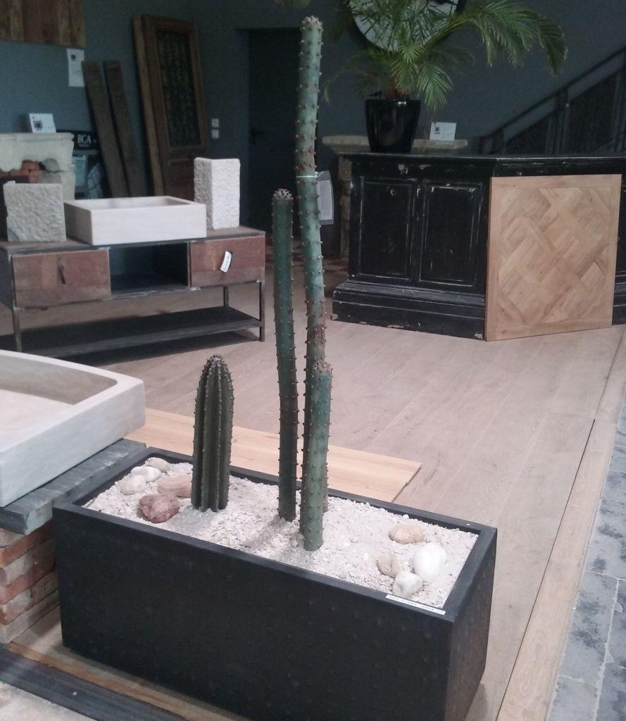 jardini re en m tal de cactus m tal bca mat riaux anciens. Black Bedroom Furniture Sets. Home Design Ideas