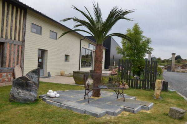 Palmier en métal pour jardin extérieur