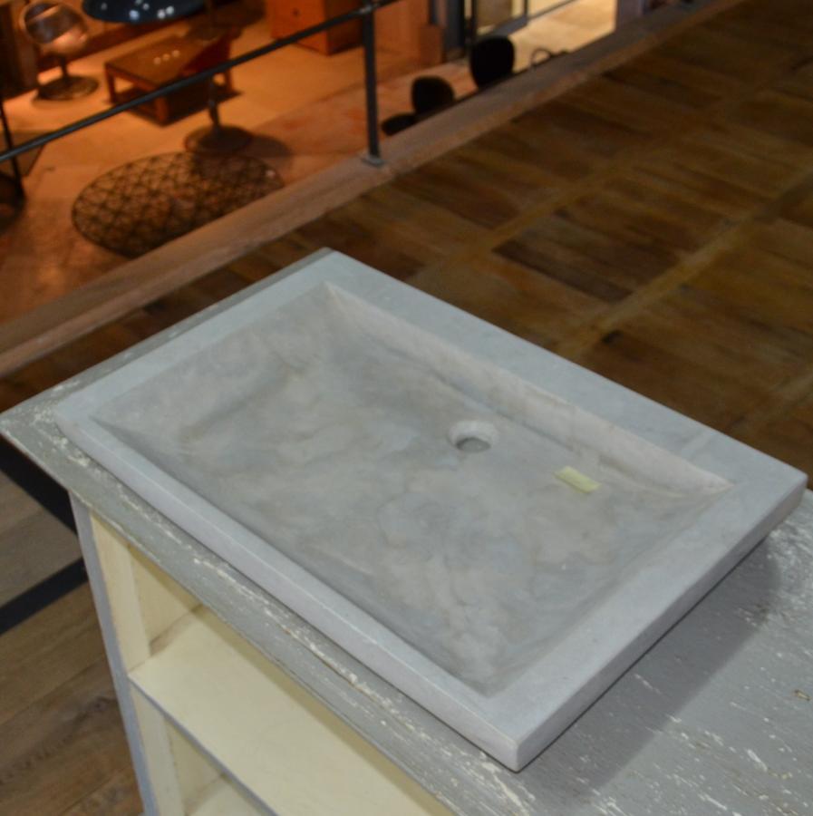 evier en pierre naturelle grise rectangulaire bca. Black Bedroom Furniture Sets. Home Design Ideas