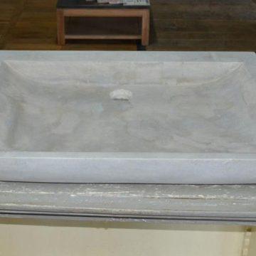 Evier en pierre naturelle grise
