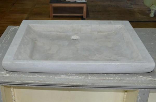 Evier en pierre naturelle grise rectangulaire bca mat riaux anciens - Evier en pierre naturelle ...