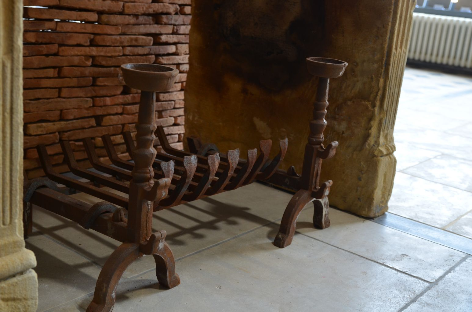 Chenet Cheminée En Fonte Réplique Modèle Ancien Bca Matériaux