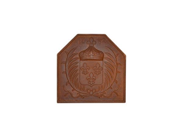 plaque de cheminée ancienne en fonte pour cheminée